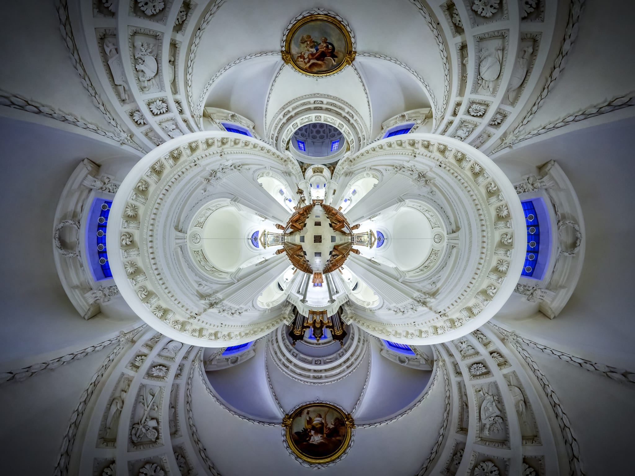 Stereografisches Panorama der St. St. Ursenkathedrale in Solothrun