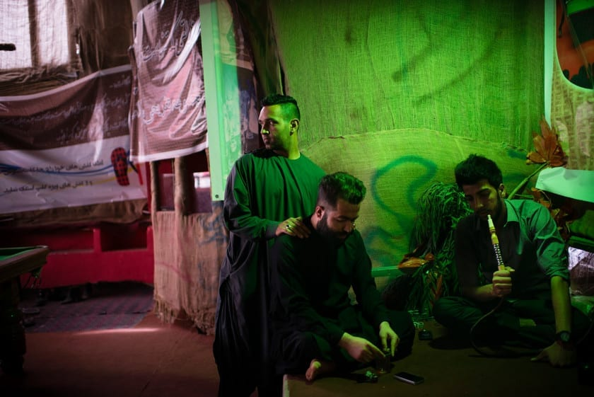 KABUL, AFGHANISTAN   2015-04-17   M. (23), an afghan rapper and part of a duet band from Herat, hangs out at Aria Cafe on a hot Friday afternoon. Born and raised in Iran, M. is critical of afghan government and that is boldly seen in his music as well as his lifestyle.
