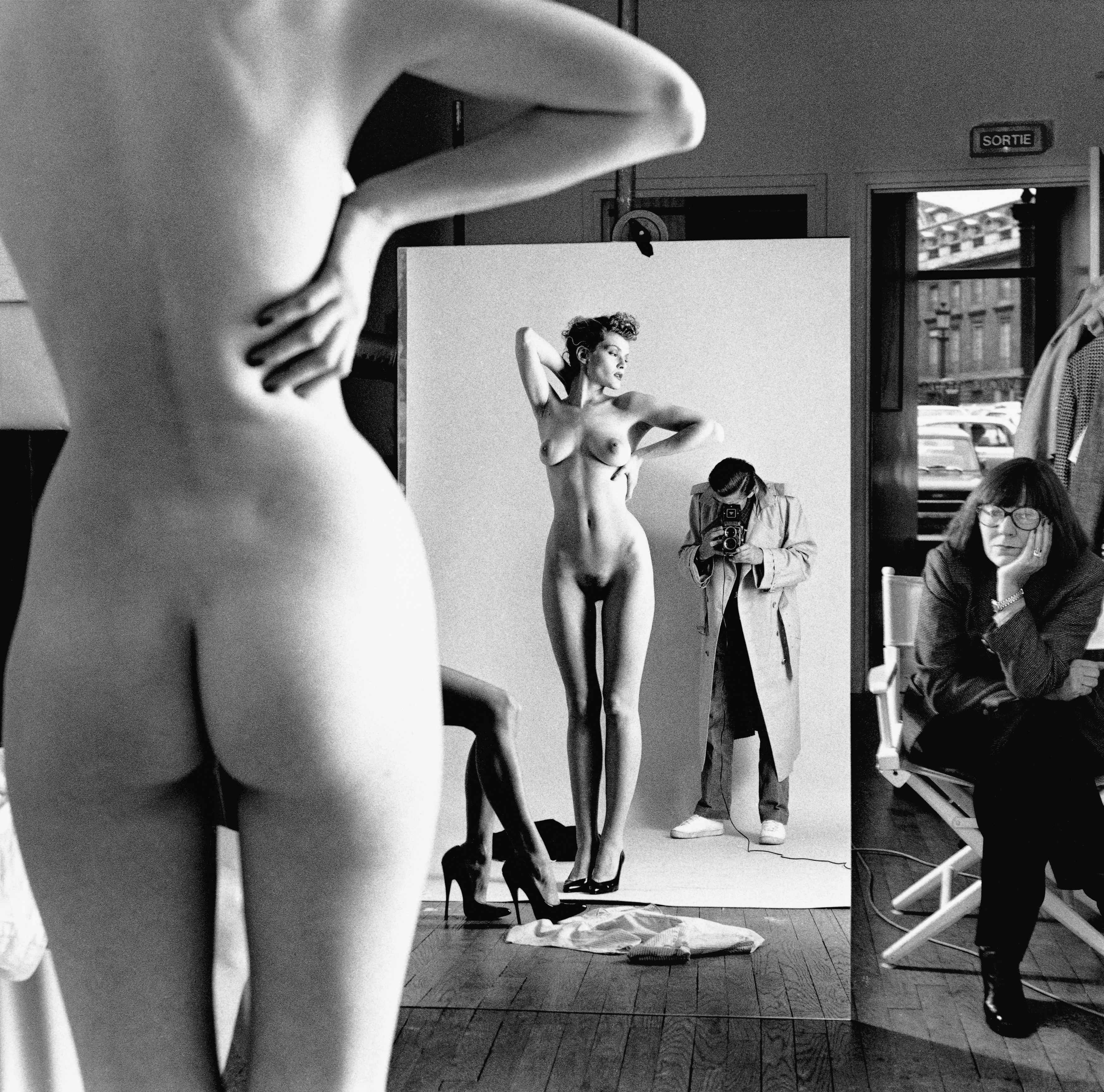 Self Portrait with Wife and Models Paris 1981 C Helmut Newton Estate