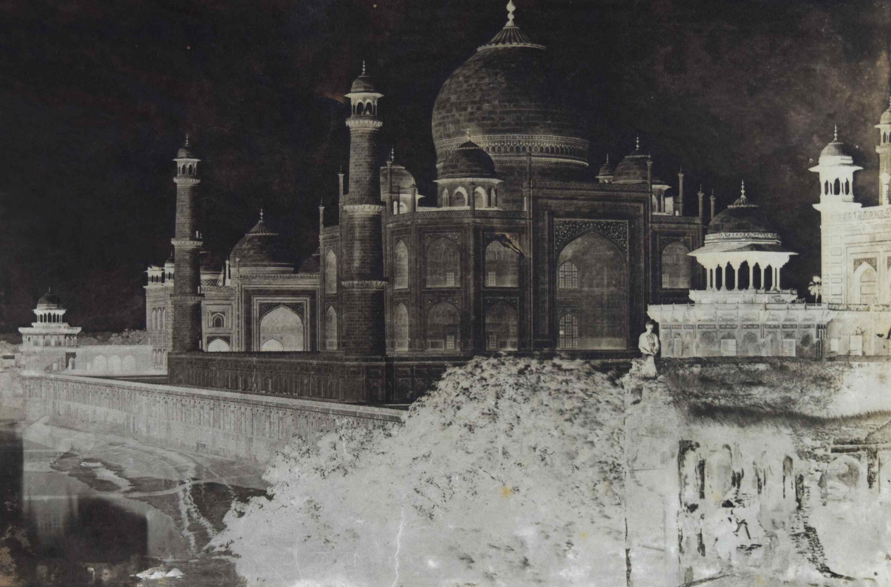 Dr John Murray - 'The Taj Mahal from the East', Agra, India, early 1860s, waxed paper negative