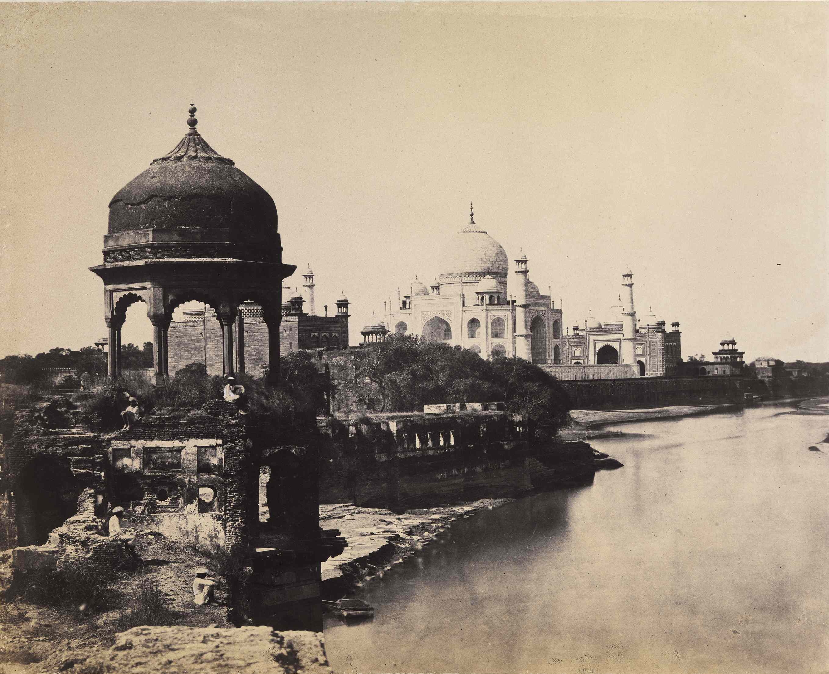Dr John-Murray View of the Taj Mahal Agra India c.-1856 Albumen print