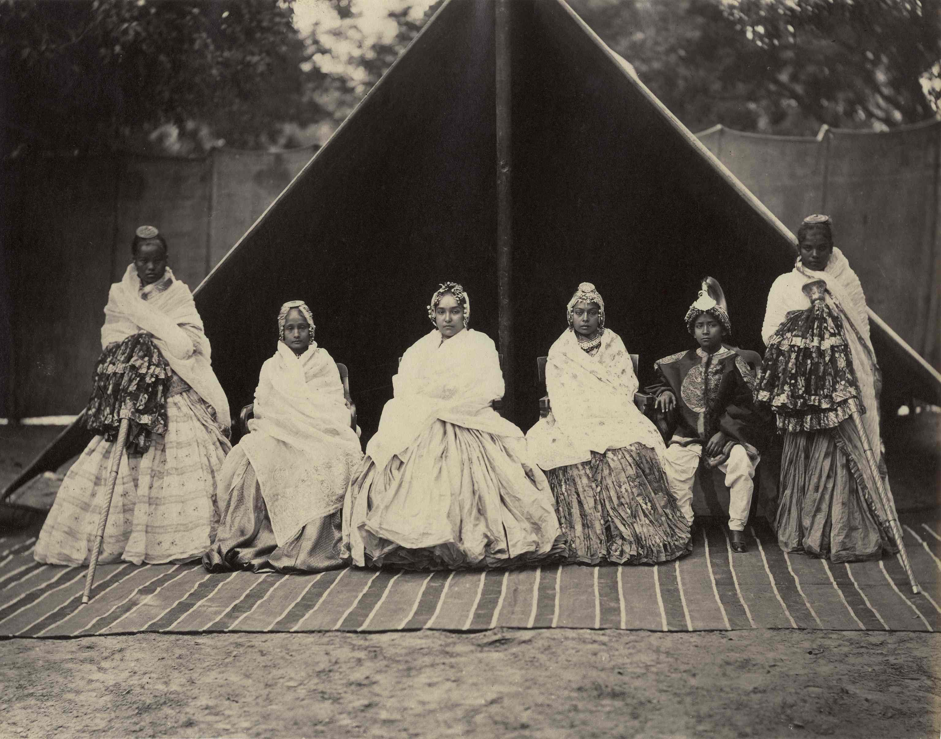 Samuel Bourne - 'Ladies in Kashmir', India, c. 1865, Albumen print