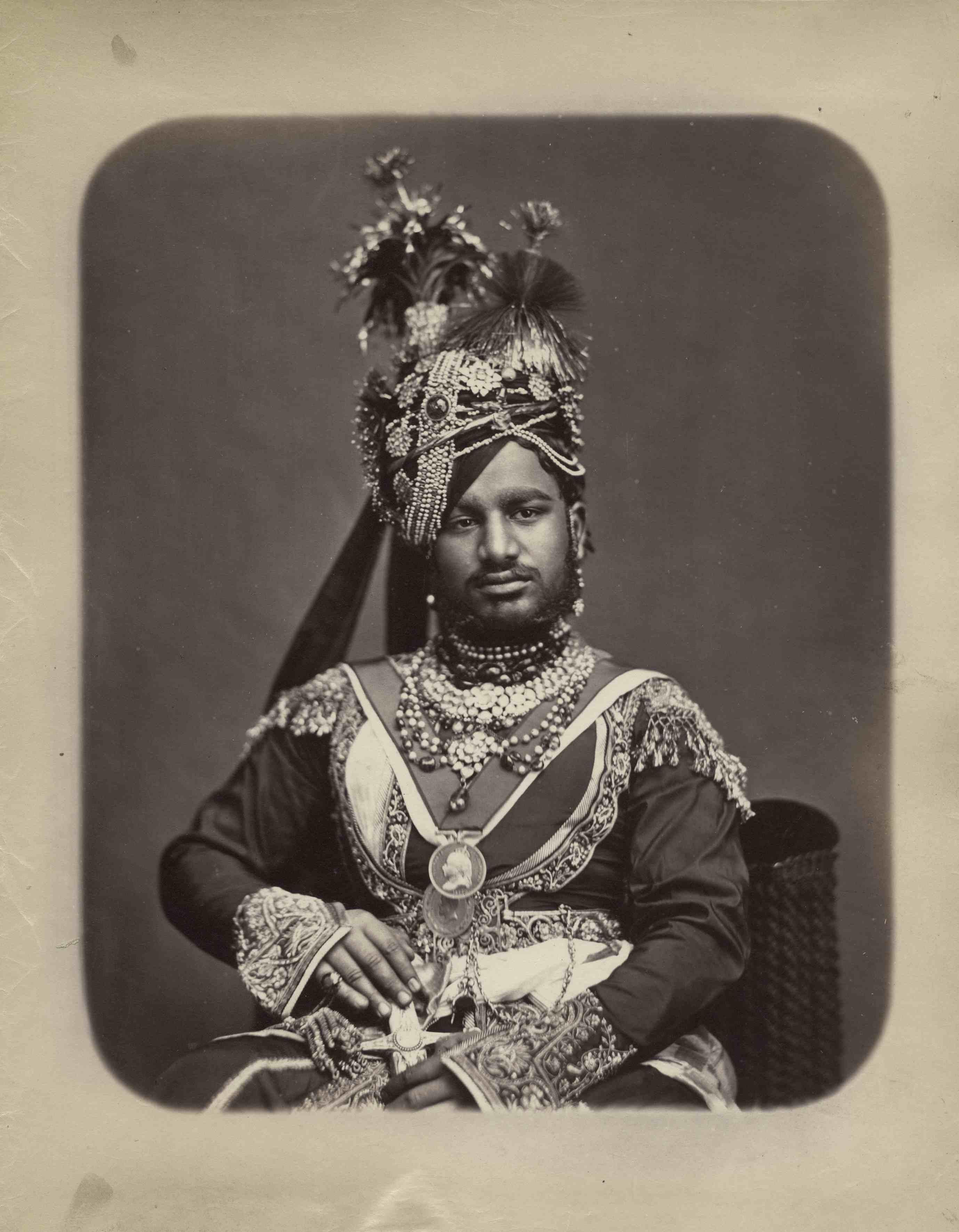 Samuel Bourne - 'Maharaja of Ratlam', India, 1870s, Albumen print