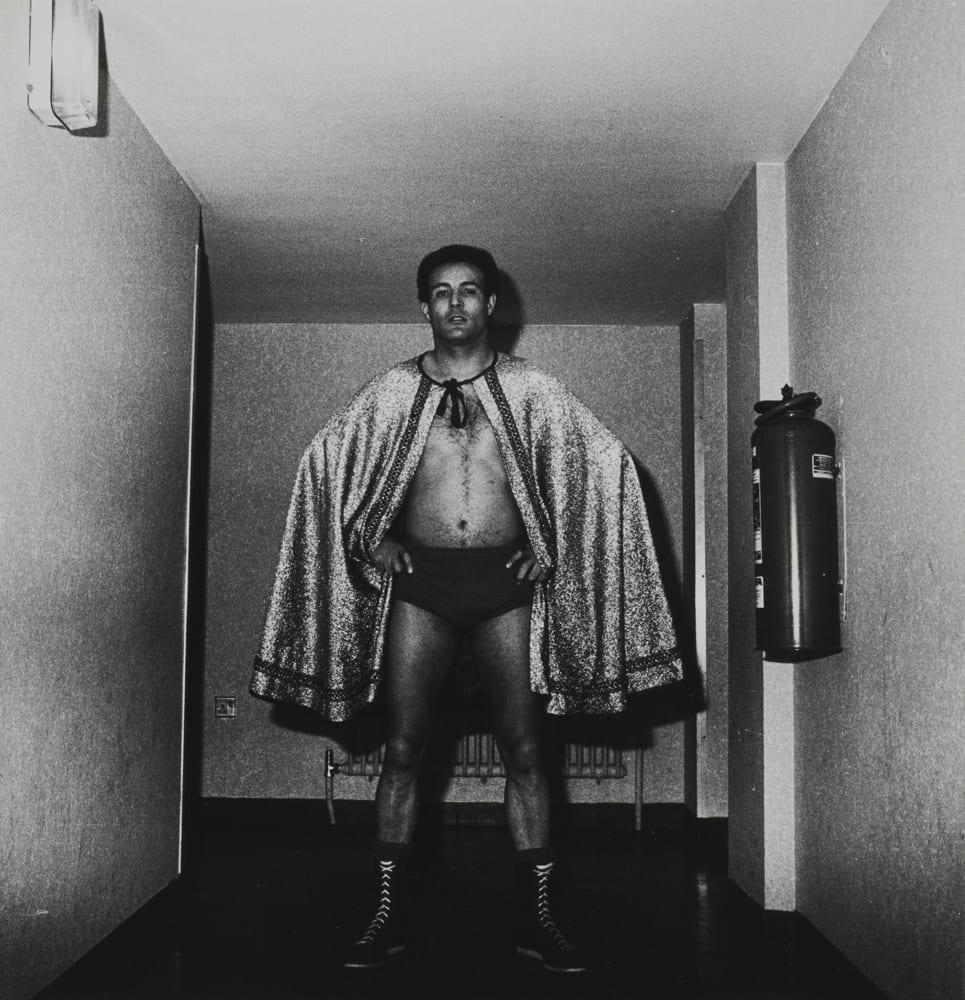 Wrestler, Battersea Town Hall, 1983. Dick Scott-Stewart