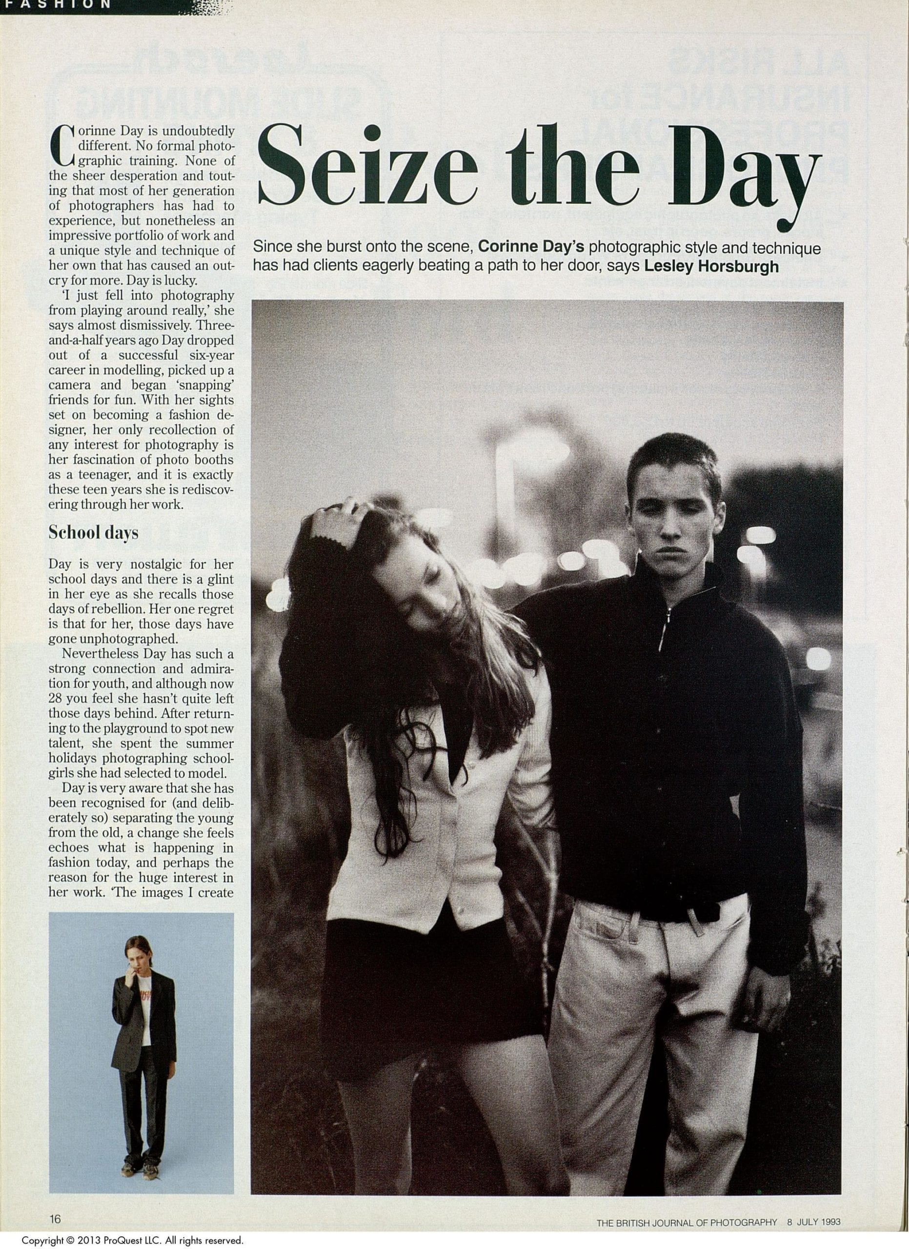 Our feature on Corinne Day, from our July 1993 issue