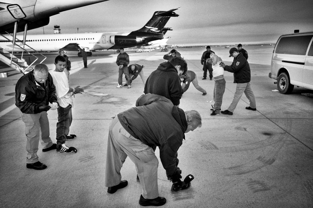 Migrants from Honduras are being deported back home at Phoenix airport. Every day there are 5-9 flights a day to Central America.