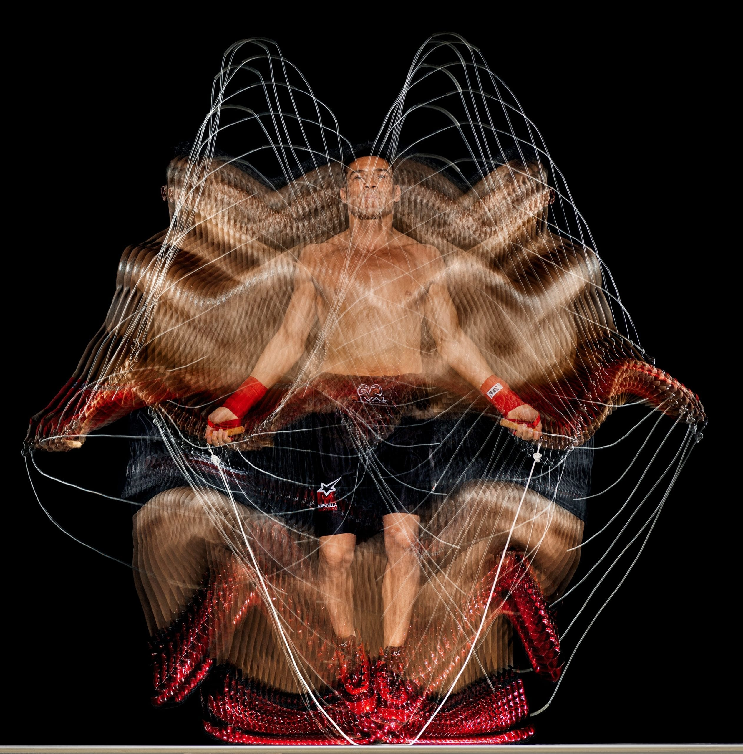 Howard Schatz (American, born 1940). Boxing Study 1805 Sergio Martinez, 2010. Archival pigment print, 42 x 42½ in. (106.7 x 108 cm). Photograph by Howard Schatz from At the Fights: Inside the World of Professional Boxing. Courtesy of the Staley-Wise Gallery, New York
