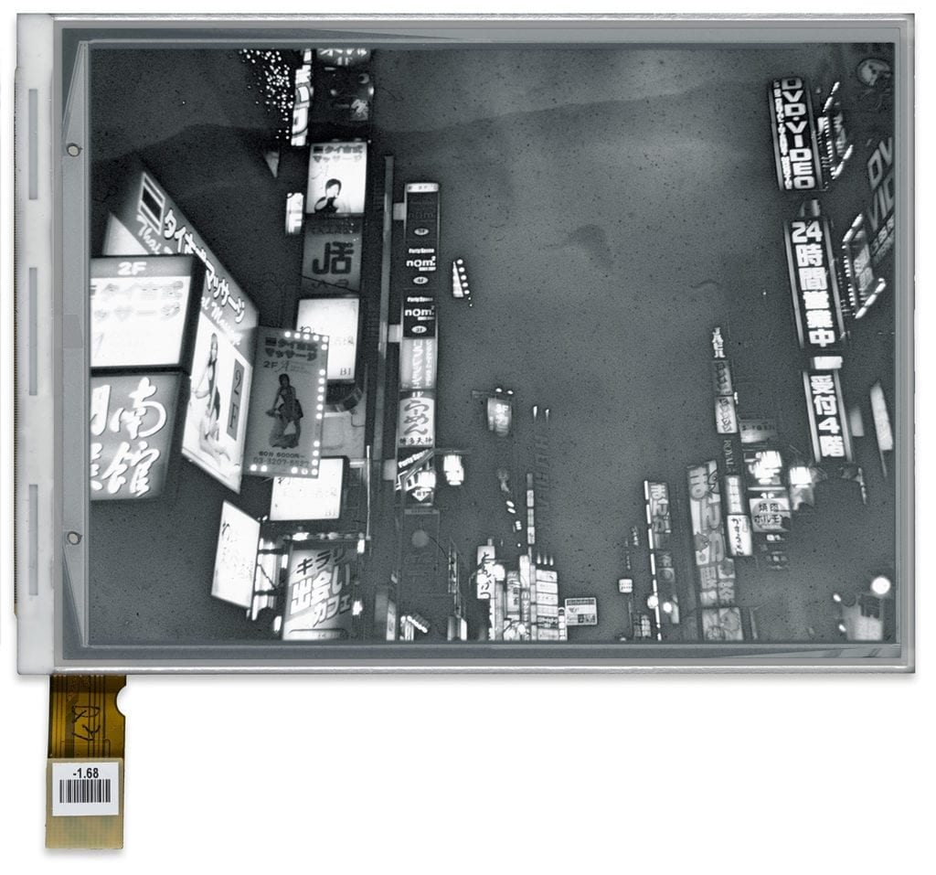 Cairns, Antony, E.I. LPT34, 2016 (Negative 2012). E-ink screen encapsulated in perspex frame, 20 x 20 x 3.2 cm (10.1 x 12.9 without frame), unique. © Ollie Hammick