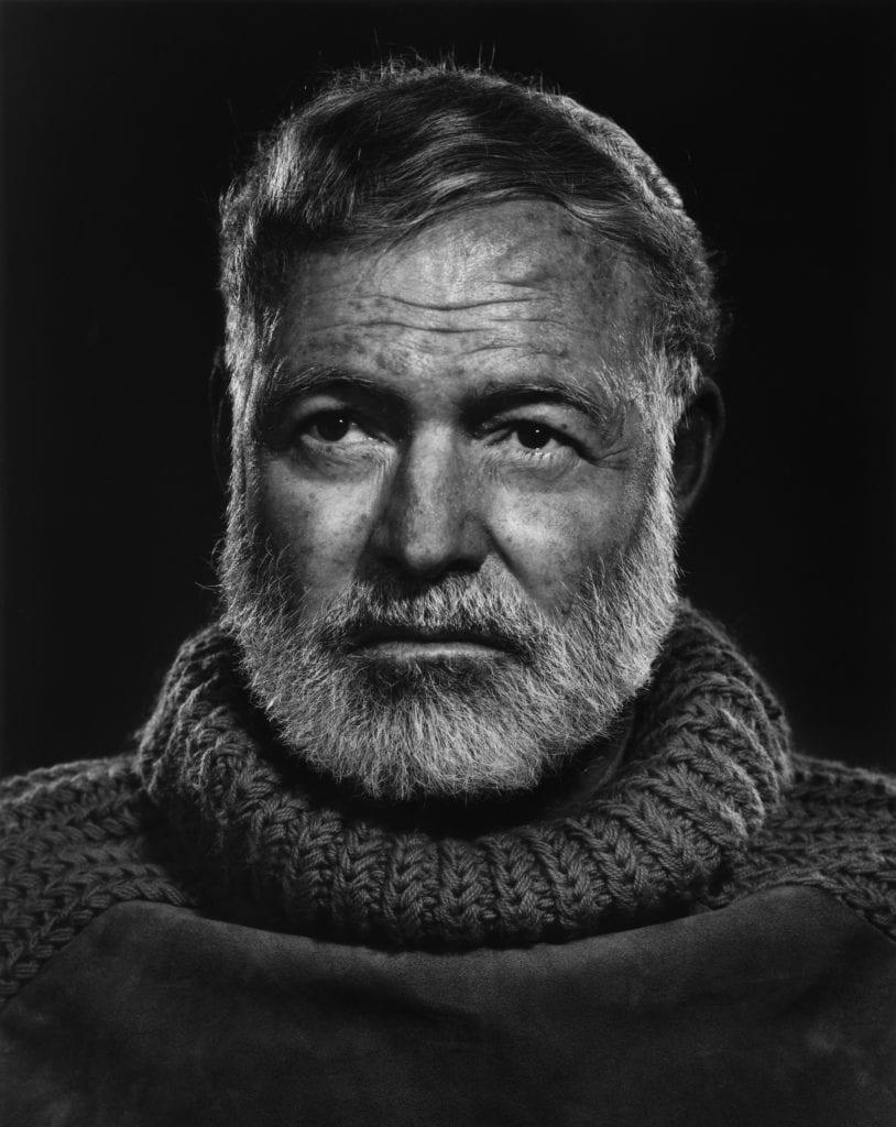 Ernest Hemingway, Cuba 1957, by Yousuf Karsh