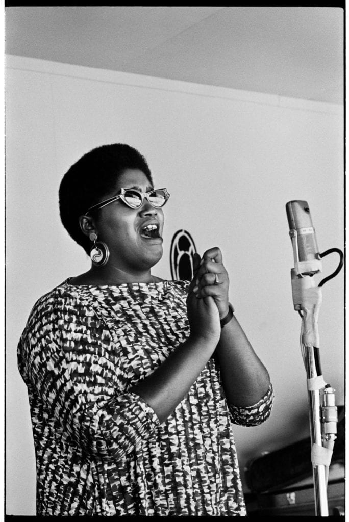 Odetta photographed at Monterey Jazz Festival in Monterey, CA September 4, 1960 © Jim Marshall Photography LLC.