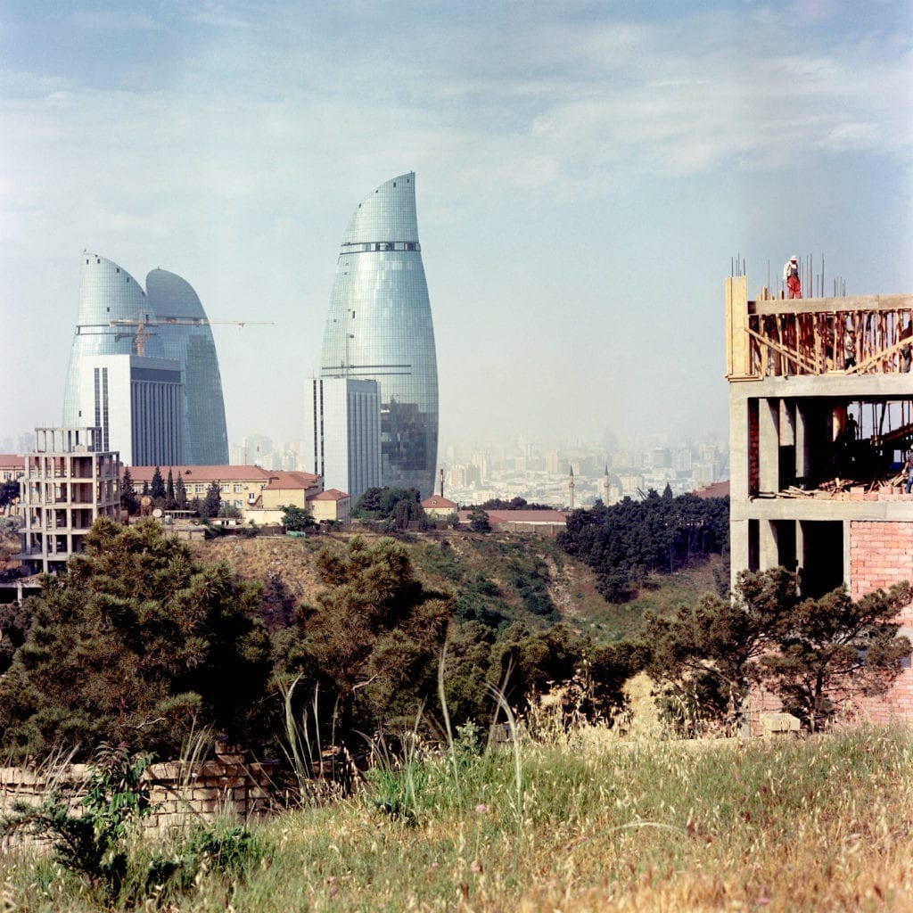 After hosting the Eurovision in 2012 and the European Games in 2015 Baku acts as a picture postcard of the country's newfound prosperity, but also of its contrasts. The country is home to known energy reserves of around a billion barrels of oil and 1.3 trillion cubic meters of natural gas. But if until now Azerbaijan did not have to worry much about paying the bills – they do now. The slump in global oil prices has put a crimp in the country's budget.  City view of Baku and The Flame Towers representing the flames from the land of fire. Each year the Azerbaijani government spends more than $ 6 billion in the construction of the city of Baku. Baku, Azerbaijan