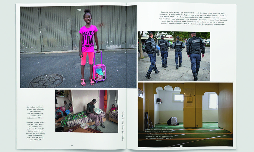 Flucht's 'Integration' issue featured Steven Wassenaar's photographs from the banlieues in France.