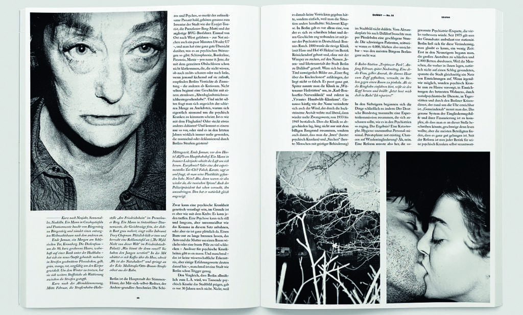 The issue also featured LaëtitiaDonval's personal project about her time in psychiatric institutions in Europe.