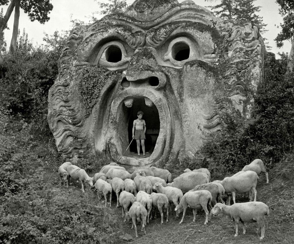 ITALY. Bomarzo. Park of the Palazzo Orsini. 1952. A-IT-BOM-001