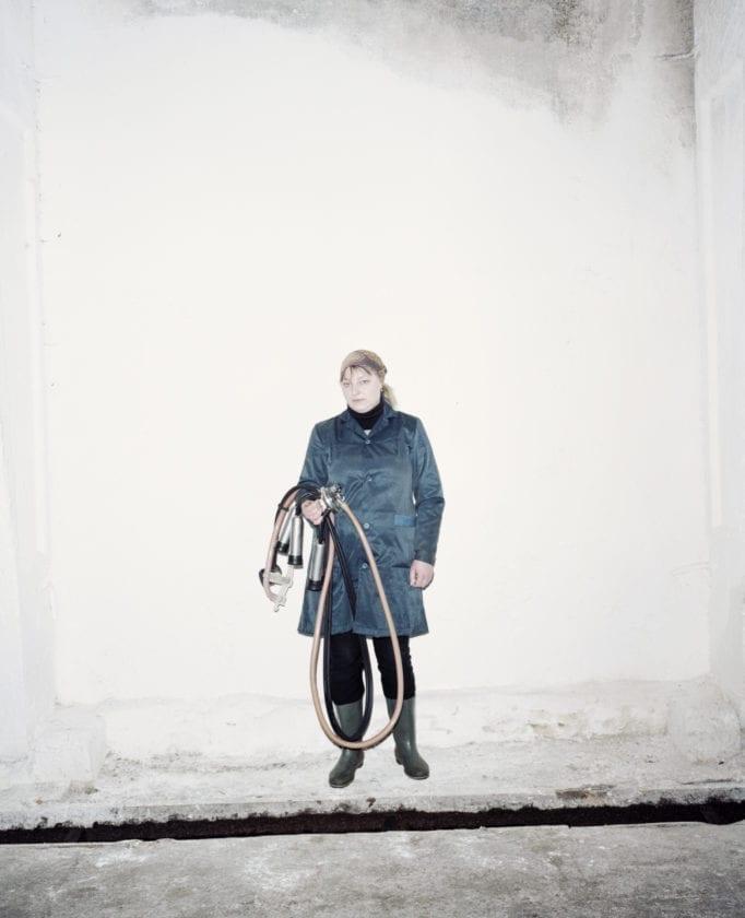 Belarus / Staryca Agro / 02.03.2013 / Elena, the best milkmaid of the Slutsk region. Personal best: 1160 liters of milk