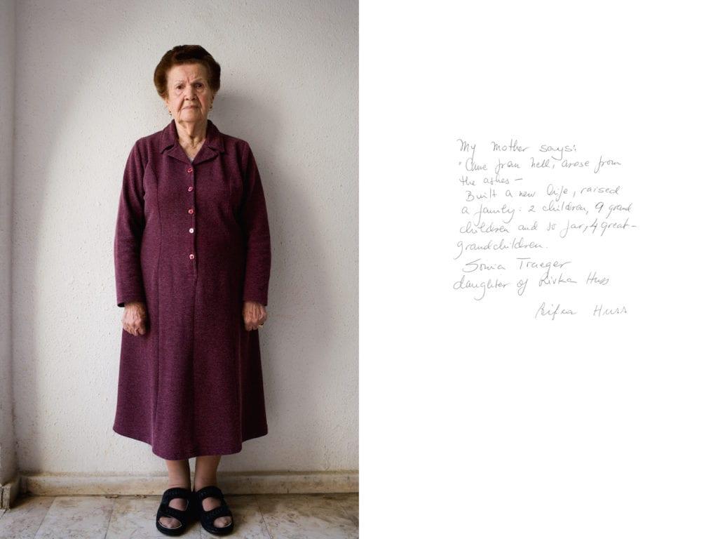 Rivka Huss, from Survivor: A portrait of the survivors of the Holocaust © Harry Borden
