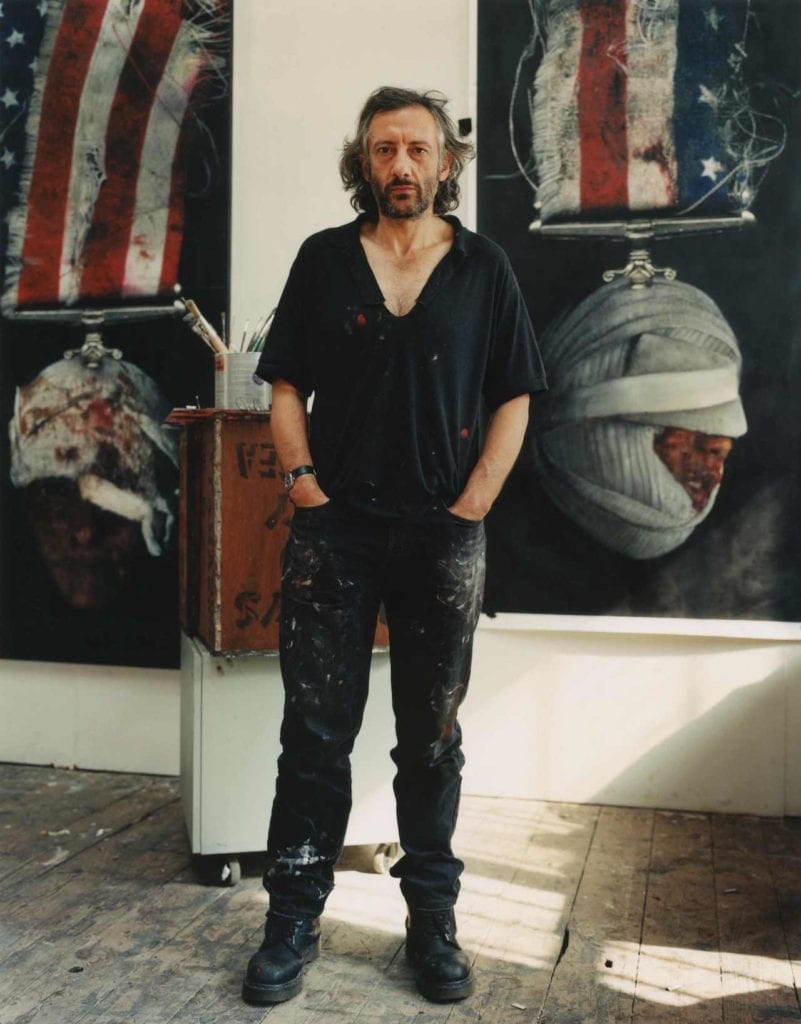 Peter Kennard, artist, 2005. From the series Presence © Edward Barber