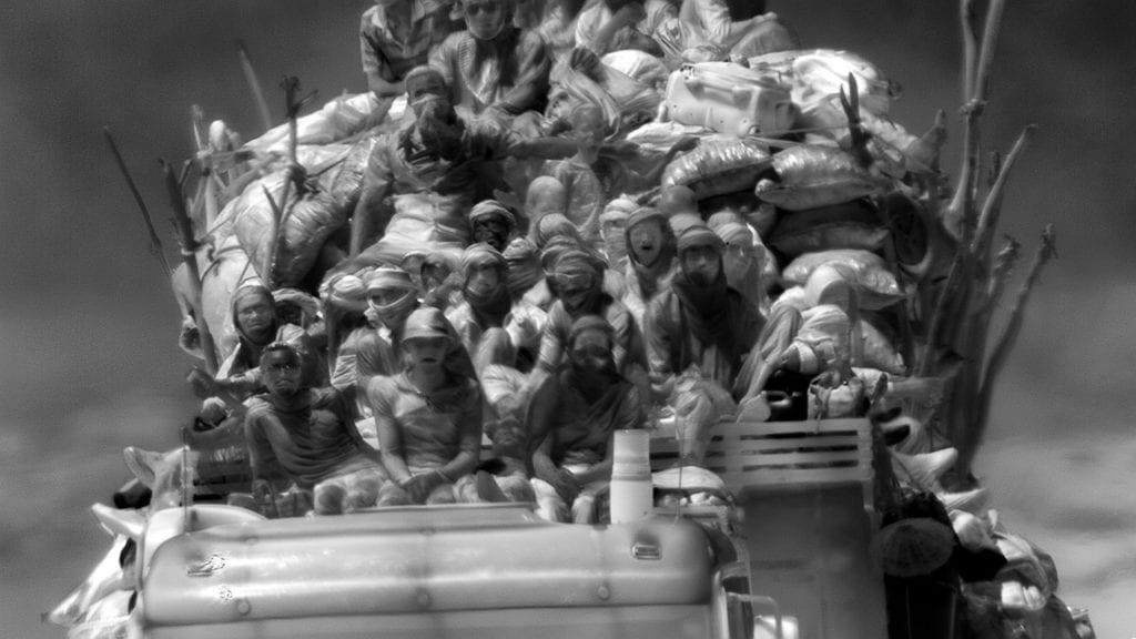 Still frame from Incoming, 2015-2016 © Richard Mosse