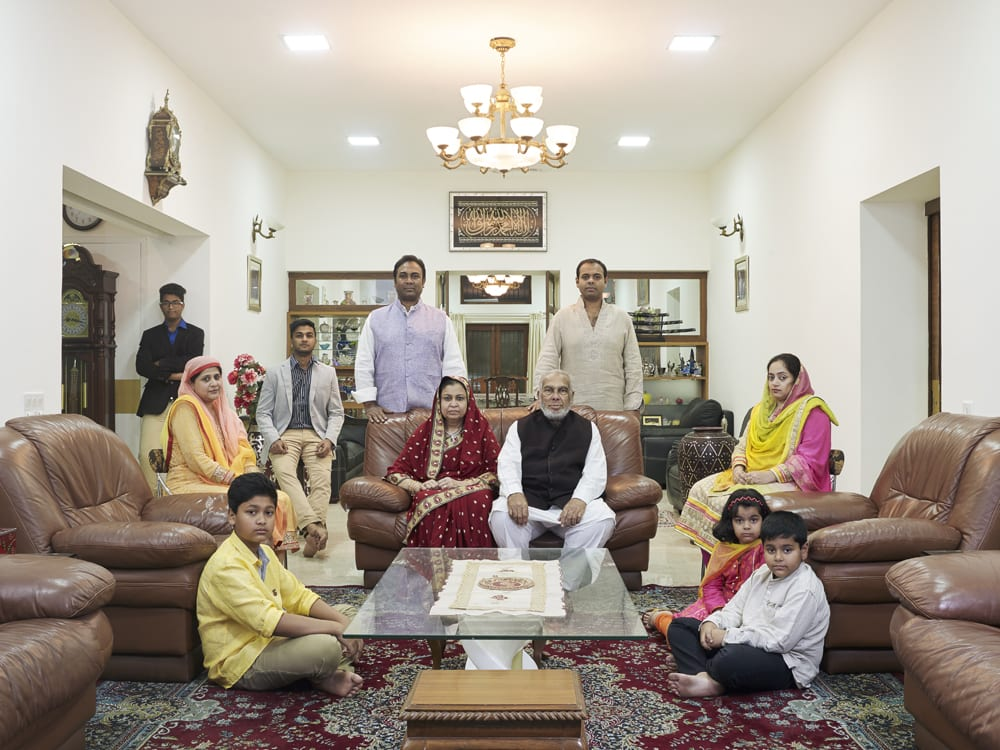 """From the series """"Family comes first – Joint family portraits in Bangalore, India"""" © Nora Bibel, nominee Portrait category, Felix Schoeller Photo Award 2015"""
