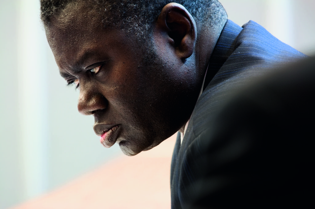 Latsouchabé Fall, Director of Planning and Equipment Senelec Energy, Sénégal United Nations Framework Convention on Climate Change: Eleventh Session of the Conference of the Parties to the Climate Change Convention and First Meeting of the Parties to the Kyoto Protocol, Palais de Congres, Montreal, Canada, 28 November – 9 December, 2005. From the book When It Changed © Joel Sternfeld. Image courtesy of Luhring Augustine and Beetles+Huxley