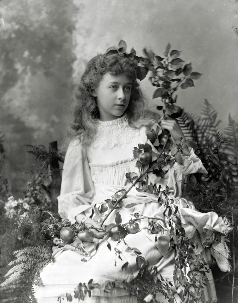 Edwardian studio portrait of a young girl, possibly a competition entry © WW Winter Ltd