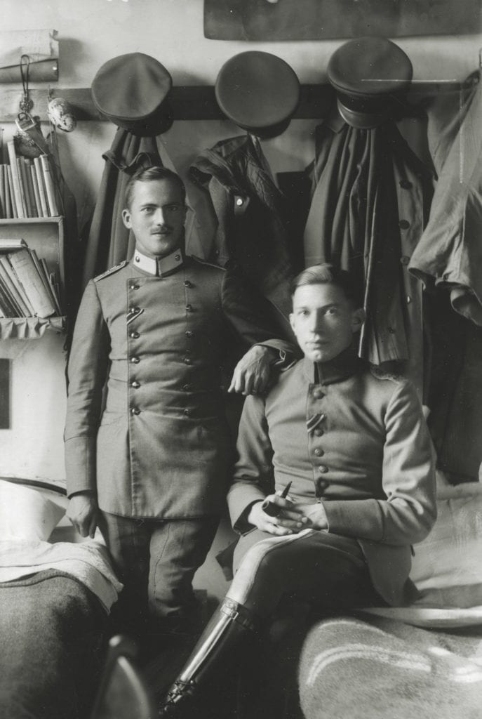 Immaculately dressed German soldiers held at the Donington Hall stately home © WW Winter Ltd