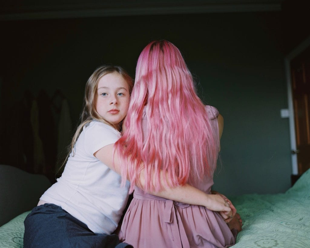Rosie with her mum. From the series My Favourite Colour Was Yellow © Kirsty MacKay