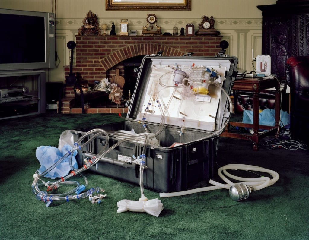Portable perfusion kit. Home of Alan and Silvia Sinclair. Peacehaven, East Sussex, UK. May 2007. From The Prospect of Immortality © Murray Ballard