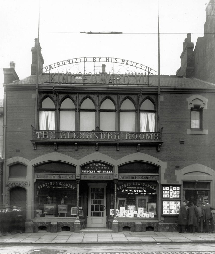 Frontage of WW Winter. The business moved to their purpose-built studio in 1867. The metal signage was cut down for the war effort in the 1940s © WW Winter Ltd
