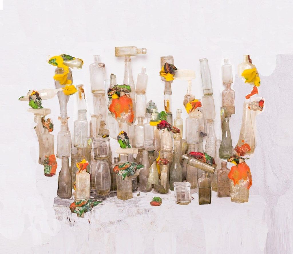 Playdough and bottles, 2016