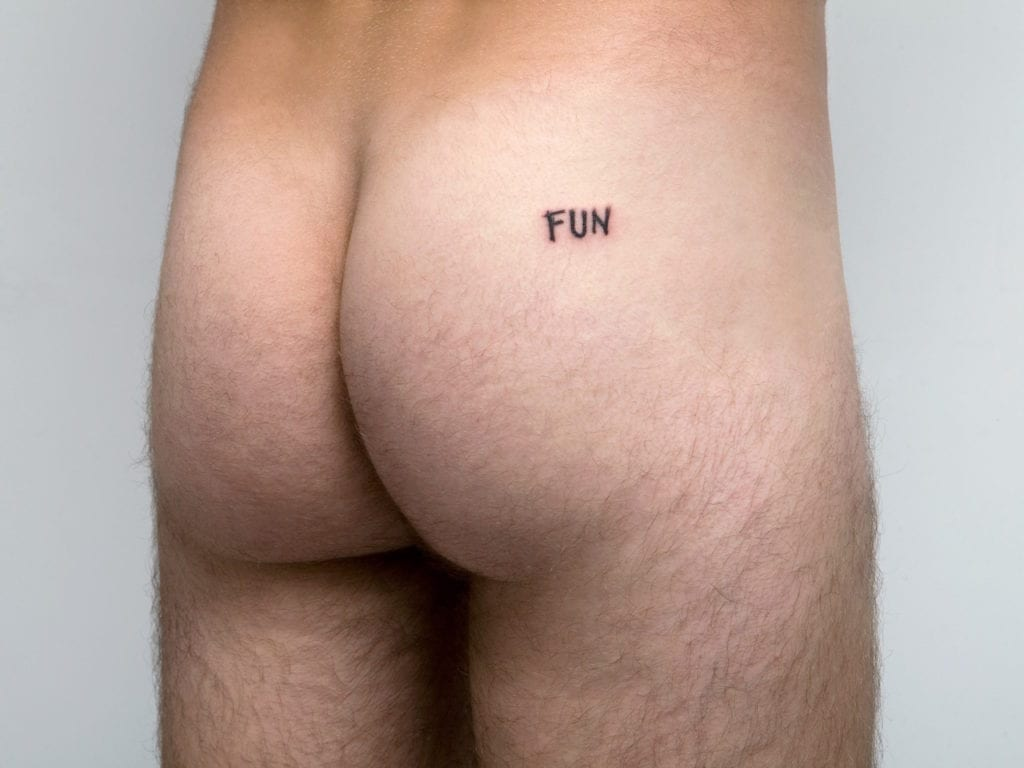 Tattoo on Mailaender's ass, 2009 © Thomas Mailaender