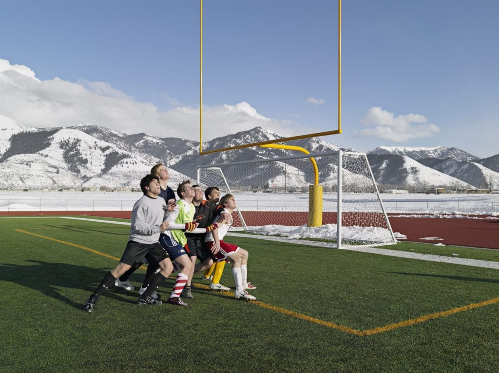 Soccer Practice, Star Valley Braves, Afton, Wyoming 2010 © Lucas Foglia