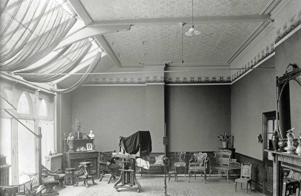 Purpose-built studio c1900, before electric lighting was installed © WW Winter Ltd