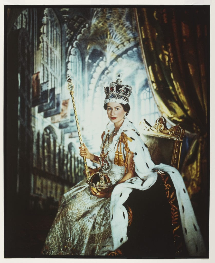 Queen Elizabeth II, Coronation Day 1953 by Cecil Beaton (1904-80). Gelatin silver print © Victoria and Albert Museum, London