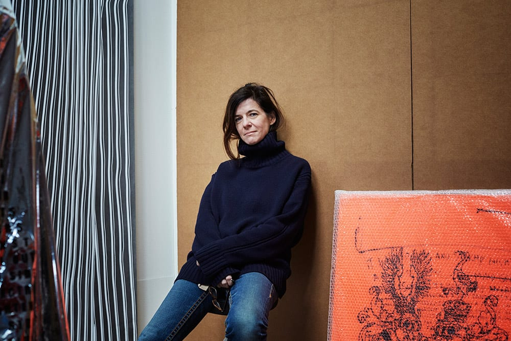 Fiona Banner from the book Hackney Studio © Jenny Lewis