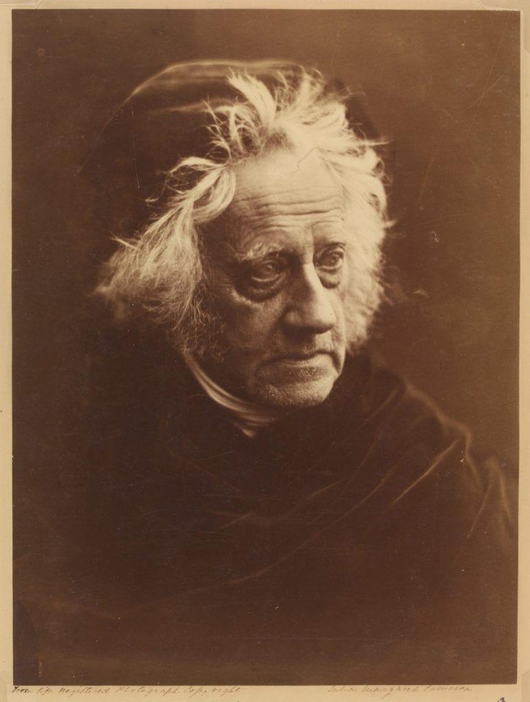 John Frederick William Herschel, 1867 by Julia Margaret Cameron (1815-79). Albumen print © Victoria and Albert Museum, London