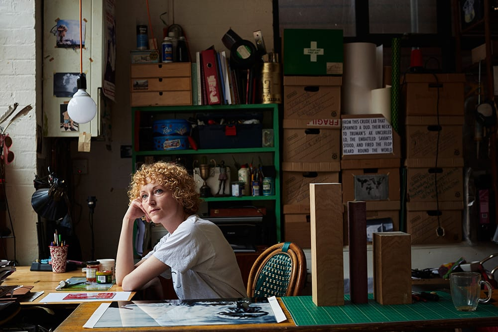 Kirsty Harris from the book Hackney Studio © Jenny Lewis