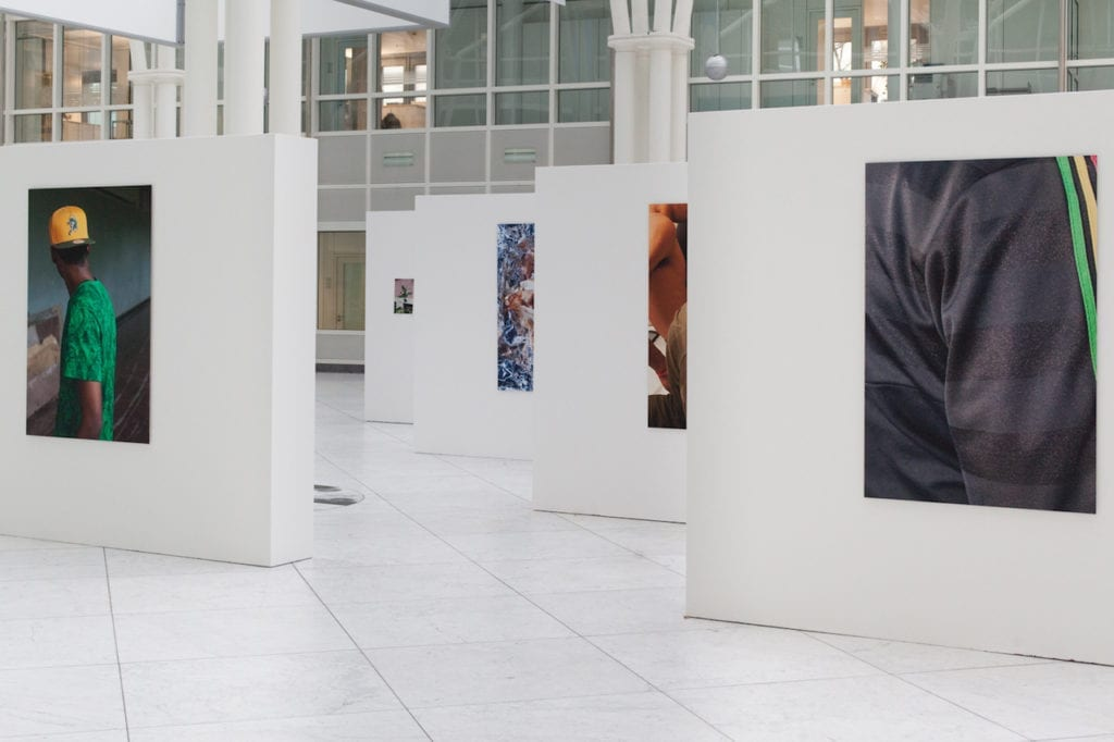 Paul Hutchinson's work on show at the IBB Award for Photography exhibition, 2015. Installation shot © Paul Hutchinson