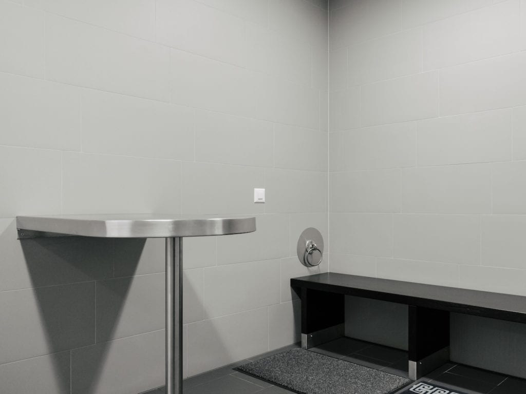 Security cell in a custom at the border, seeker, from the series 'How to secure a country' © Salvatore Vitale, courtesy of the artist