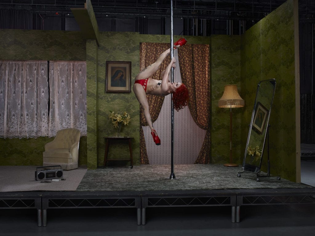 The Act, Sasha Flexy, Pole Dancer, 2017 @ Julia Fullerton-Batten, courtesy of the artist