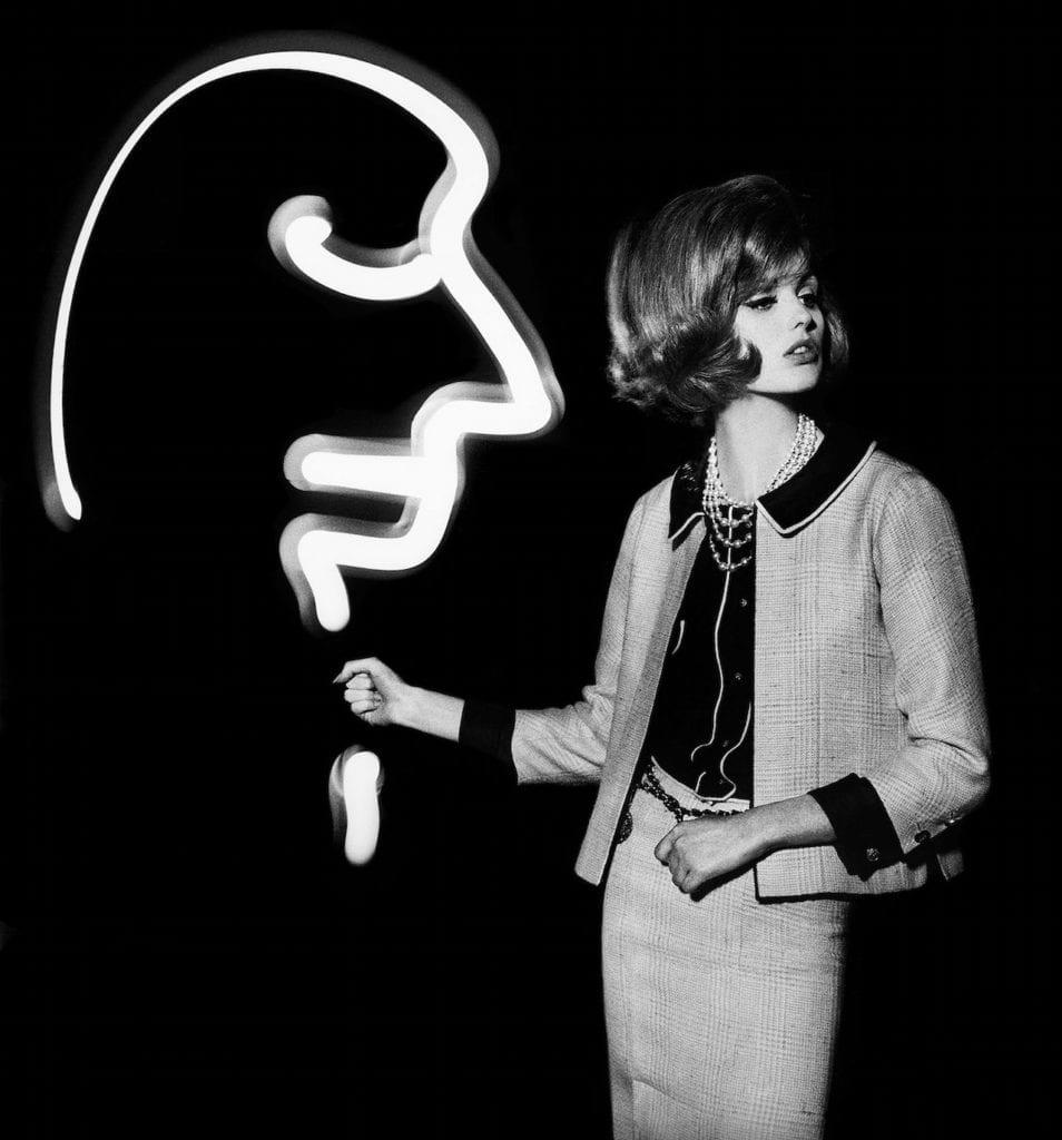 Dorothy with light face, 1962 © William Klein, courtesy HackelBury Fine Art, London