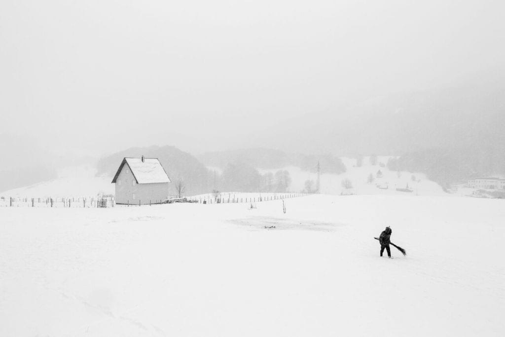 From the series 'Whiteout', 2017 © Frederik Buyckx, courtesy of Sony World Photography Awards