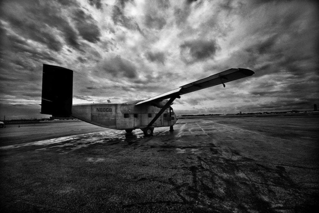 Skyvan PA-51, one of the five planes of the Argentine Naval Prefecture used for death flights during the 1976-1983 military dictatorship. According to the investigation, this aircraft operated the flight on 14 December 1977. Fort Lauderdale, Florida, United States, 2013 © Giancarlo Ceraudo, courtesy of the artist