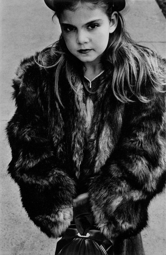 harold-feinstein-young-girl-in-fur-coat-1950