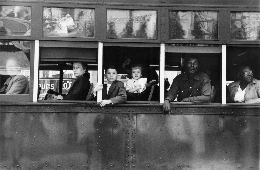 Robert Frank, Trolley - New Orleans, 1955