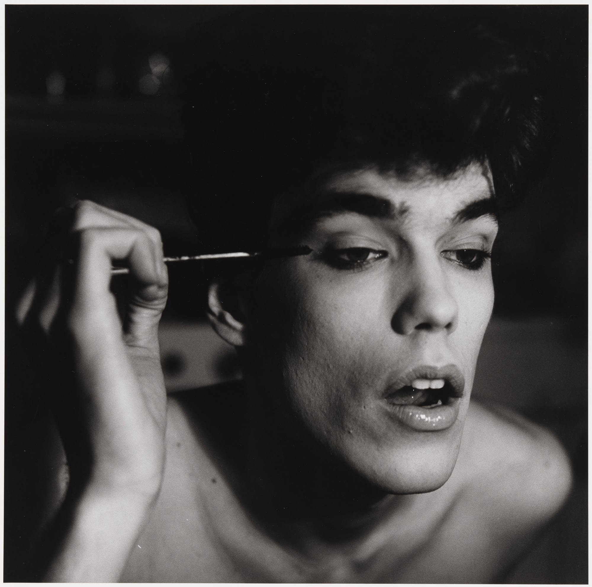 David Brintzenhofe Applying Makeup (II), 1982 © 1987 The Peter Hujar Archive LLC; Courtesy Pace/MacGill Gallery, New York and Fraenkel Gallery, San Francisco